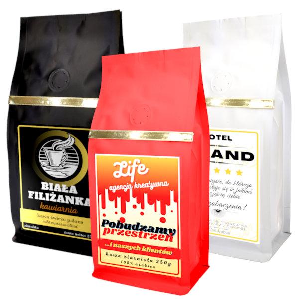 kawa z własnym logo