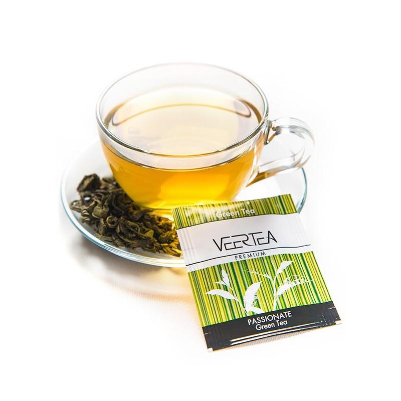 herbata zielona w saszetkach do biura