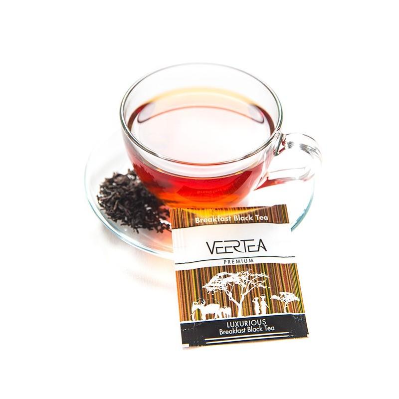 Czarna herbata w saszetkach do biura