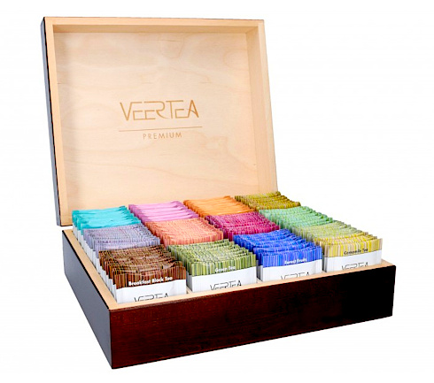 Herbata do kawiarni w drewnianym pudełku