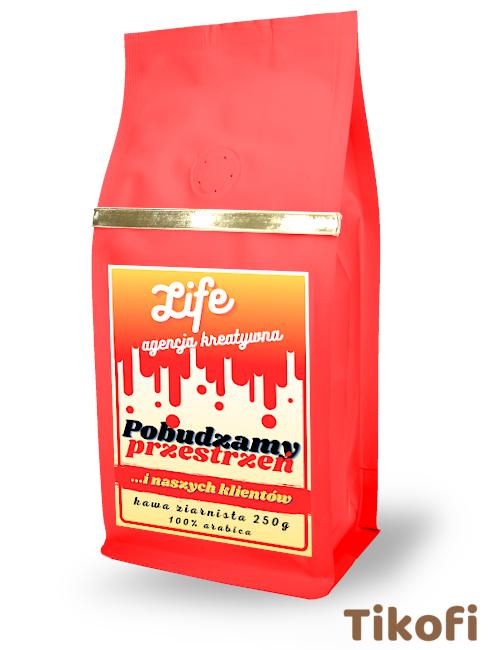 Kawa z logo do firmy